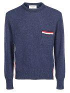 Thom Browne Shetland Wool Pullover - Navy