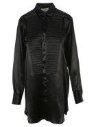Bottega Veneta Lacquer Satin Shirt - BLACK