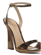 Gianvito Rossi Aura Laminated Leather Sandals - Mekong