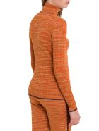 M Missoni Slub Fabric Turtleneck With Lurex Details - Arancio