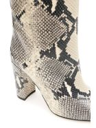 Paris Texas Python-print Boots - NATURAL (Beige)