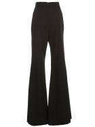 Balmain Pants Flared High Waist Grain De Poudre - Pa Noir