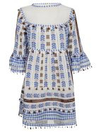 Dodo Bar Or Embroidered Tassel Mini Dress - Colorful