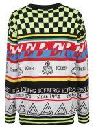 Iceberg Multipattern Logo Sweater - Multicolor