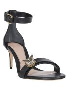 Alexander McQueen Sandals - Black/gold