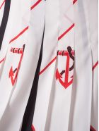 MSGM Nautical Print Skirt - White  multi