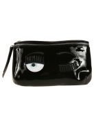 Chiara Ferragni Flirting Eye Belt Bag - black