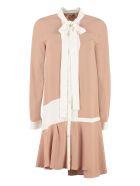 N.21 Scarf Collar Silk Shirtdress - Pale pink