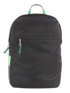 Prada Top-zipped Backpack - Xvs Black Green Fluo