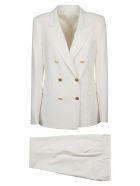 Tagliatore Double-breasted Plain Suit - White