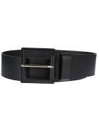 B-Low the Belt Square Buckle Belt - Black Silver