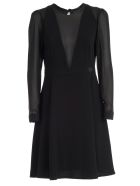 Be Blumarine Dress L/s Round Neck - Nero