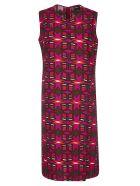 Aspesi Geometric Print Dress - Red