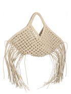 YUZEFI 'woven Basket' Small Bag - White