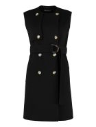 SportMax Magno Belted Wool Vest - black