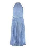 Zimmermann Sunray Picnic Polka Dot Long Dress - Blue