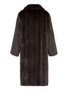 STAND STUDIO Theresa Faux Fur Coat - brown