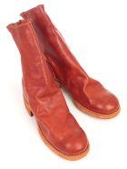 Guidi Back Zip Mid Boots - T Orange