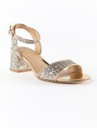 Ash Iris Sandals - Champagne Mirror Ariel