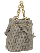 Furla Quilted Bucket Bag - Grey