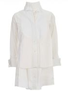 Sacai Cotton Poplin Shirt Dress - Bianco