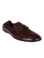 Dolce & Gabbana Brown Leather Loafers - Brown