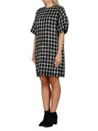 Valentino Black And White Virgin Wool Mini Dress - BLACK WHITE