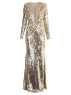 Amen Long Dress - Metallic