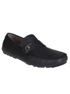 Salvatore Ferragamo Black Leather Rasca Loafers - Black