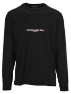 Neil Barrett T-shirts SNOWBOARDER ZEUS PRINT LONG SLEEVES T-SHIRT