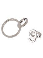 MM6 Maison Margiela Silver Brass Ear Cuffs - Silver