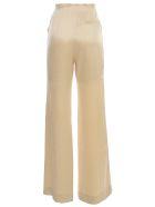 Nanushka Flax Pants Flared Satin - Wax Yellow