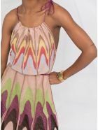 M Missoni Flared Multicolor Lamã© Dress - Multicolor