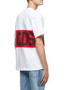 GCDS Logo Print T-shirt - Bianco rosso nero