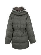 Agnona Fur Padded Jacket - Gray