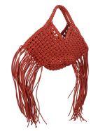 YUZEFI 'woven Basket' Small Bag - Brown
