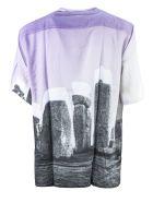 Aries Multicoloured Stonehenge Print Shirt - Glicine+nero