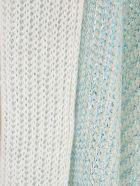 Avant Toi Ribbed Over Linen Cardigan W/lamination - Turchese