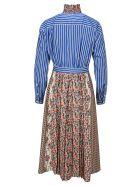 Prada Mixed Print Dress - MULTICOLOR