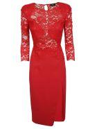 Elisabetta Franchi Celyn B. Elisabetta Franchi For Celyn B. Lace Detail Dress - Red