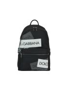 Dolce & Gabbana Logo Tape Print Vulcano Backpack - Black/multicolor reflective