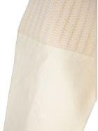 Haider Ackermann Cotton Insert Wool Knit Jumper - WHITE