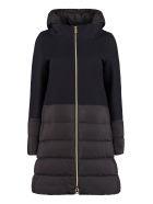 Herno Wool Cloth And Nylon Jacket - blue