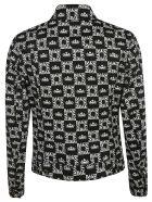 Dolce & Gabbana Square Logo Motif Shirt - white black