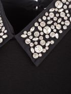 Be Blumarine Dress L/s Pencilswarovsky Collar - Nero