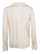 Calvin Klein Collection Blusa Ls Lace Trim - Yax White Smoke