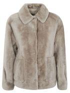 Brunello Cucinelli Two-side Patch Pocket Concealed Jacket - Beige