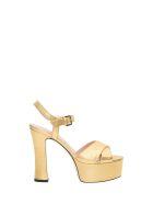 Pollini Golden Platform Sandals - Oro