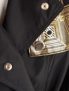 Versace Collection Classic Double Breasted Coat - Nero