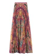 Etro Printed Pleated Maxi-skirt - Multicolor